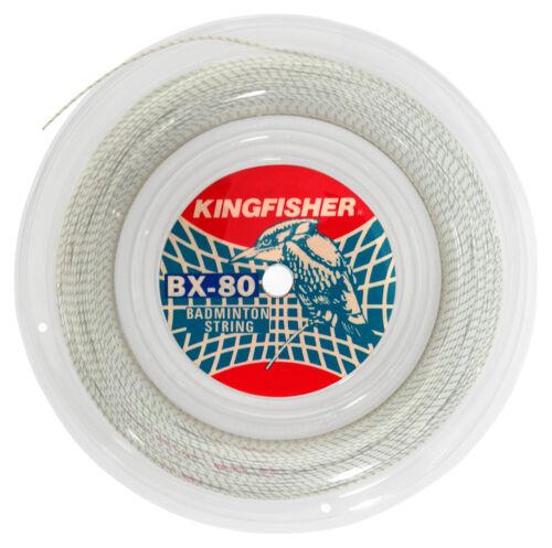 Kingfisher BX80 Green 100m White Badminton String