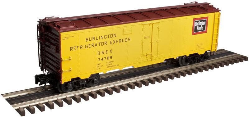 Atlas  O'  Burlington 40' Plug Door Steel Reefer (3 Rail)
