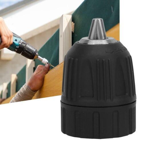 3//8-24UNF 0.8-10MM Keyless Drill Bit Chuck Clip W// 1//4/'/' Hex Shank Rod Adapter