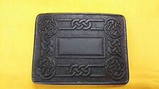 Men's Celtic Swirl Kilt Belt Buckle Black Finish/Celtic Belt Buckle Highland Kil