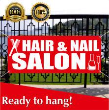 Hair And Nail Salon Banner Vinyl Mesh Banner Sign Beauty Salon Barber Shop