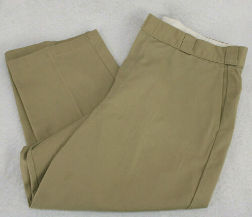 Vtg DICKIE'S Beige Khaki Chinos Flat Front Work Pa