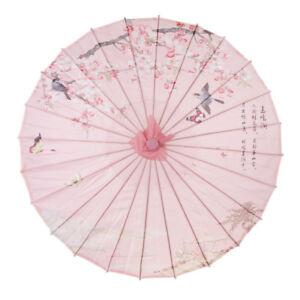 Chinesischer japanischer Regenschirm Kunst Dekor Blume gemalter Sonnenschirm