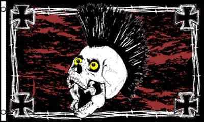 """iron Skull"" Flag 3x5 Ft Limpid In Zicht"