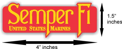 "Semper Fi USMC Marines Car Decal Sticker 4/"" x 1.5/"""