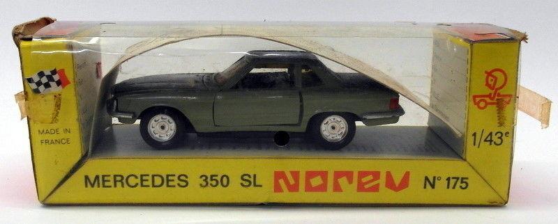 Vintage Plastic Norev 1 43 Scale No.175 - Mercedes 350 SL gris