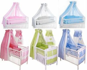 baby bettw sche 100x135 nestchen himmel set f r babybett ebay. Black Bedroom Furniture Sets. Home Design Ideas