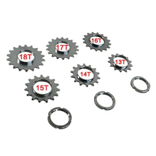 Cycling Track Sprocket Fixed Gear Single Speed Cog Threaded Lock Ring 17T