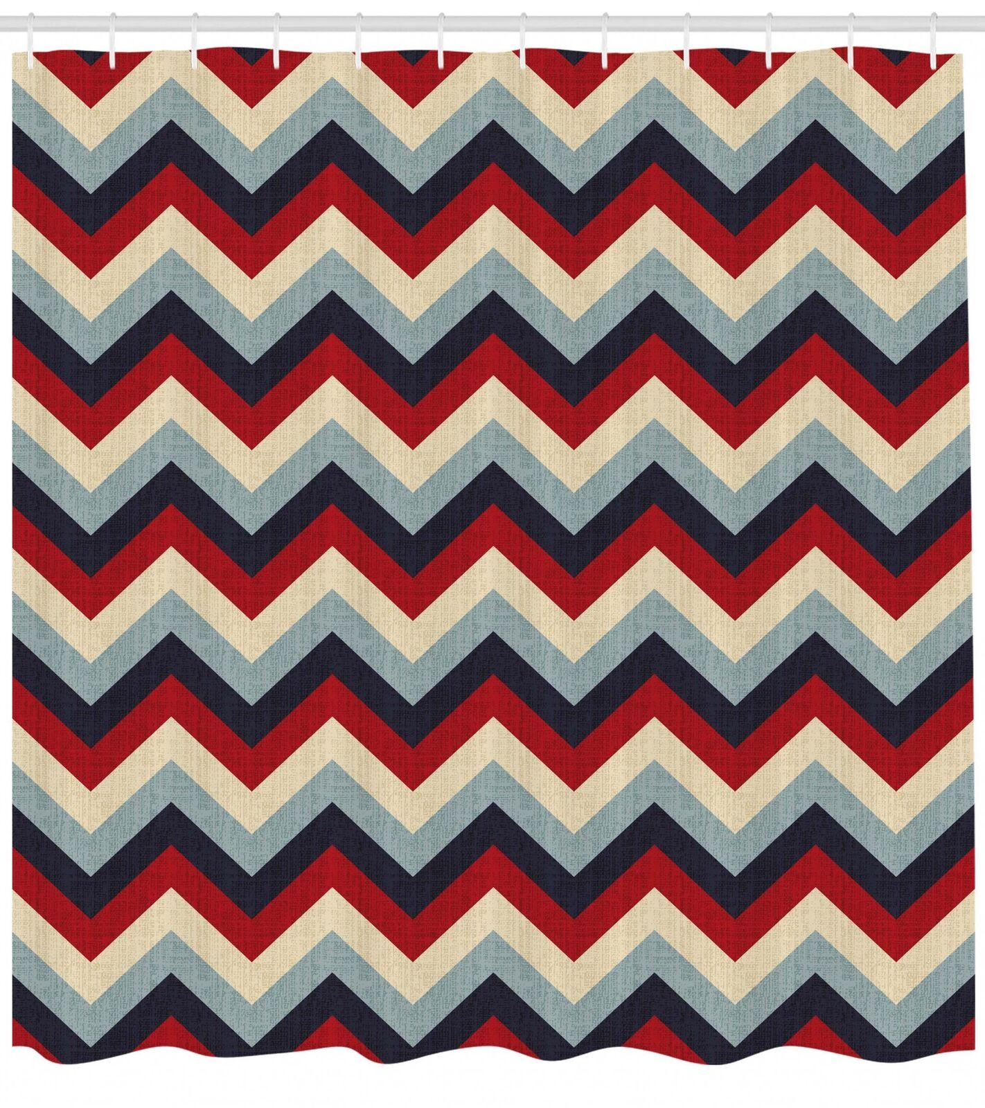 Retro Girls Pattern Shower Curtain Fabric Decor Set with Hooks 4 Größes