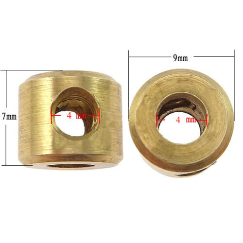 Stop Motion Ball and Socket Armature Brass Connecting Collar Pack of 10
