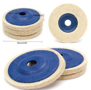 Lana-de-3-un-rueda-que-pulimenta-Pulido-Pulidor-de-fieltro-Pad-para-100-mm-Herramienta-de-Amoladora