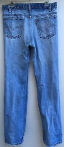 Vintage-Levi-039-s-Jeans-Orange-Tab-Naturally-Destroyed-Distressed-34-034-Waist-X-33-034