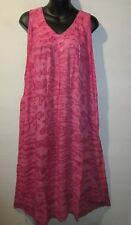 Dress Fit 1X 2X 3X Plus Pink Peppermint Tie Dye A Shaped Cotton V Neck NWT G424