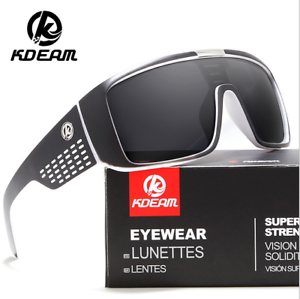 05988297ff Image is loading Kdeam-Men-Polarized-Large-Oversize-Sunglasses -Outdoor-Sport-