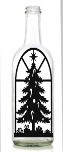 Wine Bottle Christmas Tree Diy.Details About Vinyl Decal Sticker For Wine Bottle Diy Christmas Tree Stained Glass Window