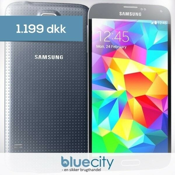 Samsung Samsung S5 4G PLUS 16GB Sort, Samsung S5 4G PLUS 16GB