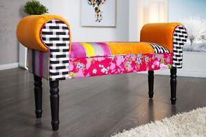 Panca colorato multicolore patchy patchwork retrò design