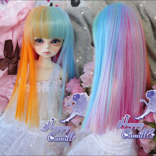 Hot Sale Dreamlike Watercolor Long Girl Wig For 1//3 22-24cm BJD SD DOD LUTS Wig