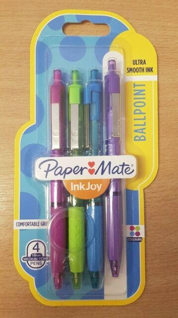 Papermate Inkjoy 100 Ink Pens 1.0mm Ballpoint Medium Nib Home School Work BLACK