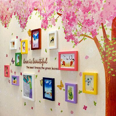 Beautiful Two Pink Cherry Blossom Flower Tree Wall Sticker Art Mural Home Decor