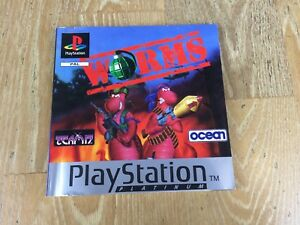 worms sony ps1 playstation 1 instruction manual only no game rh ebay co uk sony playstation 1 user manual PlayStation Portable