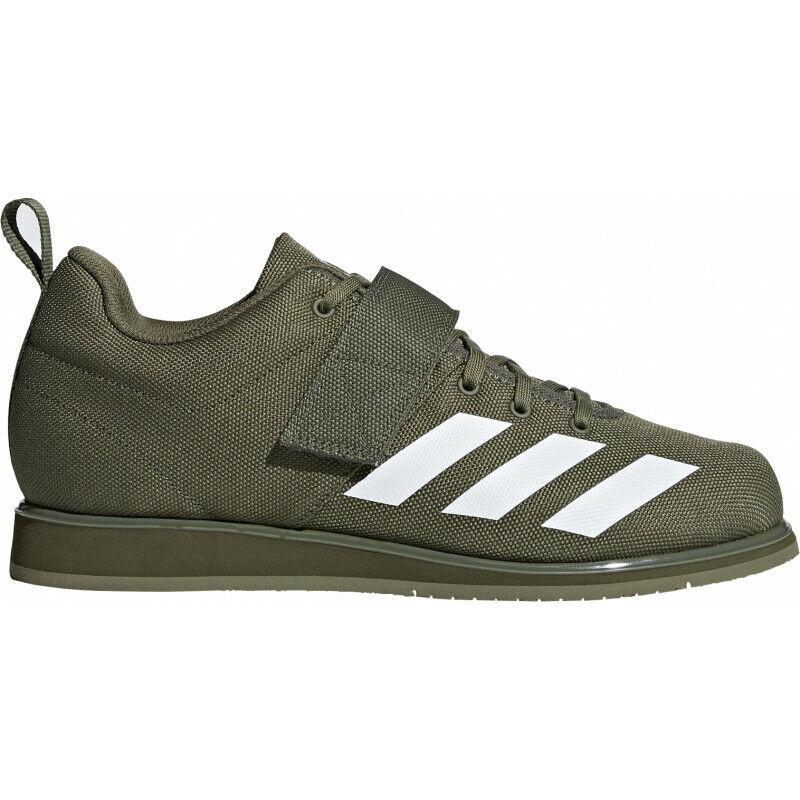 Para Hombre Adidas Powerlift 40 Hombres Zapatos de Halterofilia-verde 1