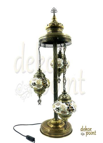 Oriental turc la main Mosaïque Lampe Verre Lampadaire 3 lumières
