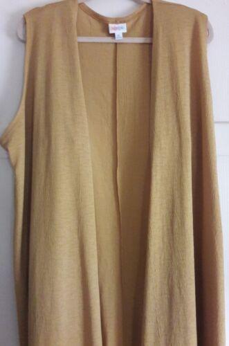 Xl Joy Lularoe Long Gold Vest af qqPwx