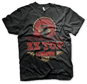 ZZ-Top-Lowdown-Since-1969-Hot-Rod-Blues-Rock-Band-Musik-Tour-Maenner-Men-T-Shirt