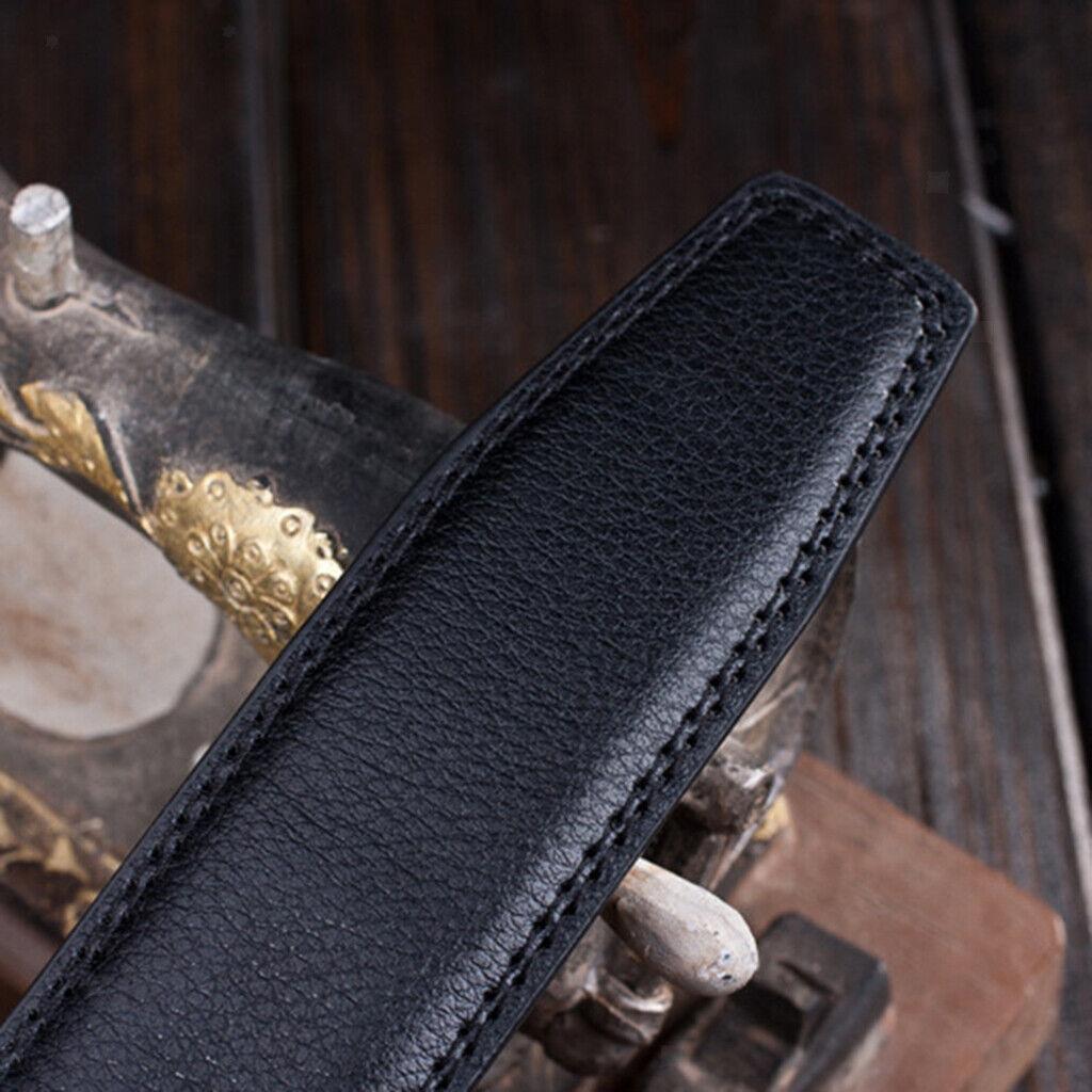 Herren Fashion Automatic Slide Leder Gürtel Ratschengurt Belt ohne Schnalle