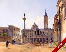 SANTA MARIA MAGGIORE BASILICA CATHEDRAL PAINTING ROME ITALY ART REAL CANVAS PRIN