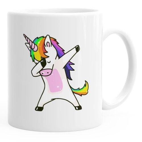 Einhorn-Tasse tanzendes Einhorn Dabcorn Dabbing Unicorn Dab dabbendes Einhorn