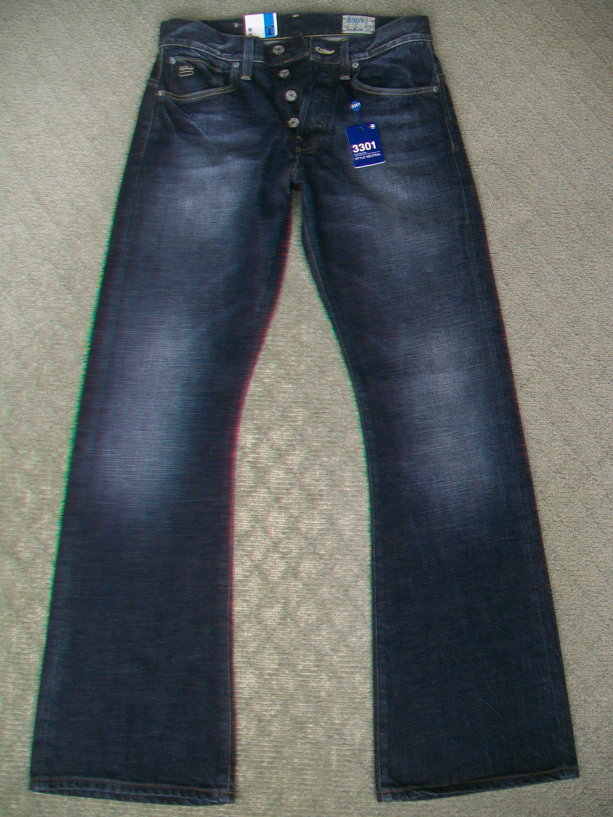 MENS G STAR '3301 BOOT' JEANS - BNWT - SIZE 28 29 30 31