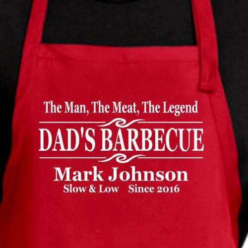 Personalized Dads BBQ apron in 4 colors Personalized Dad/'s Barbecue apron