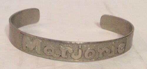 "Cuff Name Bracelet ""Marjorie"" Handmade"