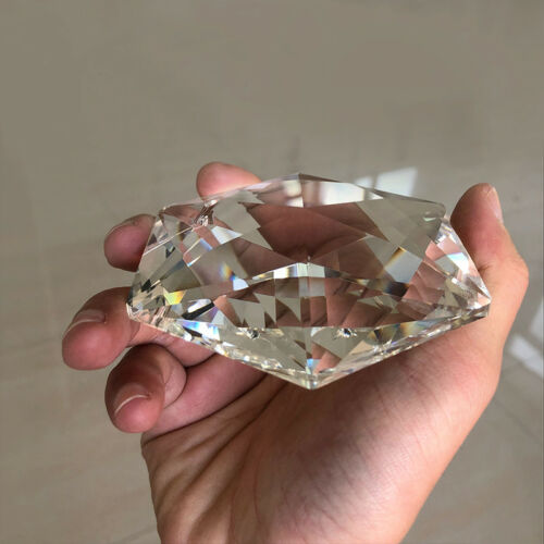 100MM Hexagram Large CRYSTAL Chandelier Glass Prisms Pendant Judaism SUNCATCHER