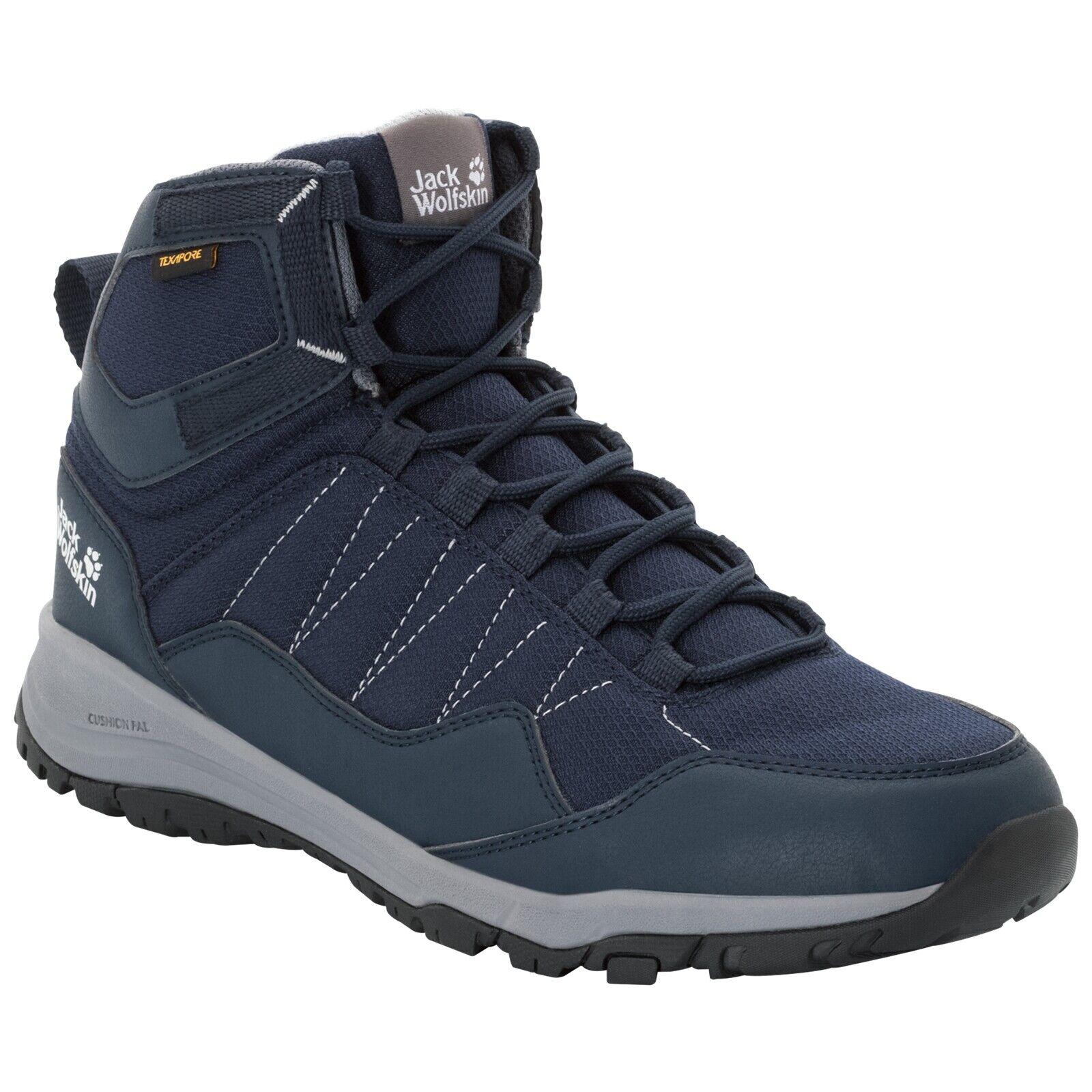 Schuhe Jack Wolfskin Maze Texapore Mid Men dark Blau light grau Wasserdicht