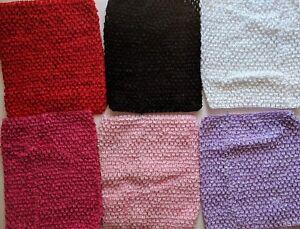 10pc Crochet Waffle Tutu Tops9blackwhitepinkredpurplegirls