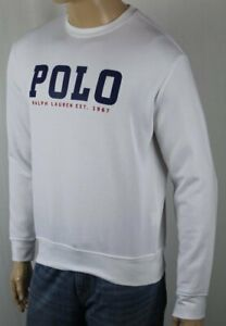 Polo Ralph Lauren White Crewneck Graphic Sweatshirt NWT $125