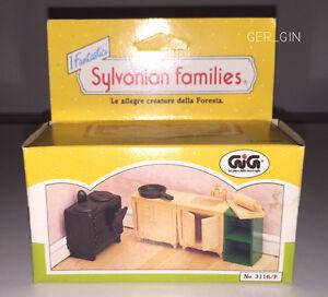 SYLVANIAN FAMILIES | KITCHEN FORNITURE - EPOCH 1989 - MIB NIB NEW #3116/F RARE