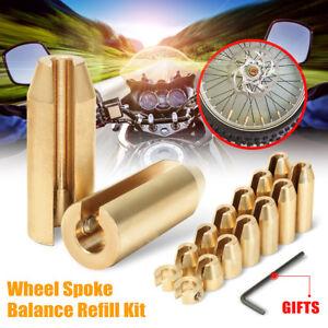 14Pcs Motorcycle Racing Reusable Brass Wheel Spoke Balance Weights Refill Kit