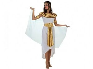 Déguisement Femme Cleopatre Blanc Xl 44 Egyptienne Reine Egypte Neuf
