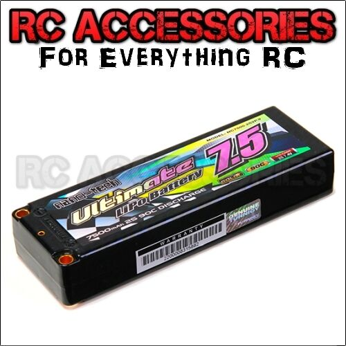 Lipo battery  nano-tech 7500mah 7.4v 2S 9080C TRA2869 Summit E-revo E-maxx