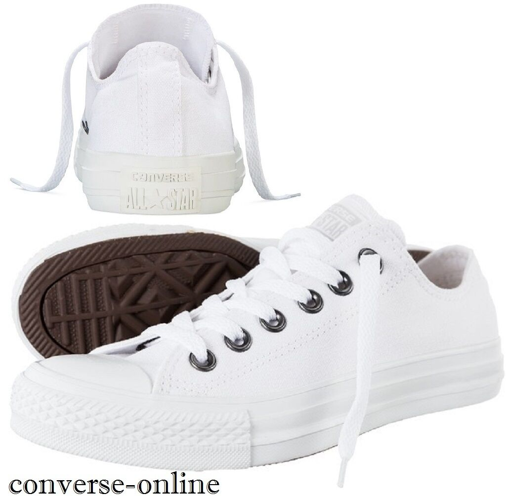 Homme CONVERSE All Star Blanc CHUCK TAYLOR OX Low Trainers ChaussuresTaille 12