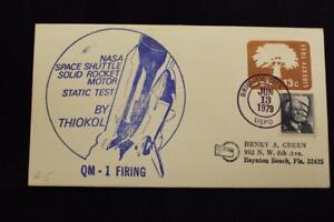 Space-Cover-1979-a-Mano-Annullo-Postale-Shuttle-Solid-Razzo-Motore-Statica-Prova