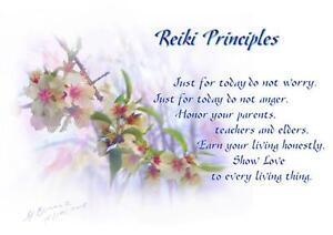 Reiki-Principals-Poster-Healing-Spiritual-Angel-Art-Painting-by-Glenyss-Bourne