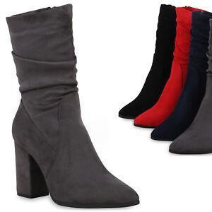 Details zu Klassische Damen Stiefeletten Elegante Stiefel Leicht Gefüttert 825021 Trendy