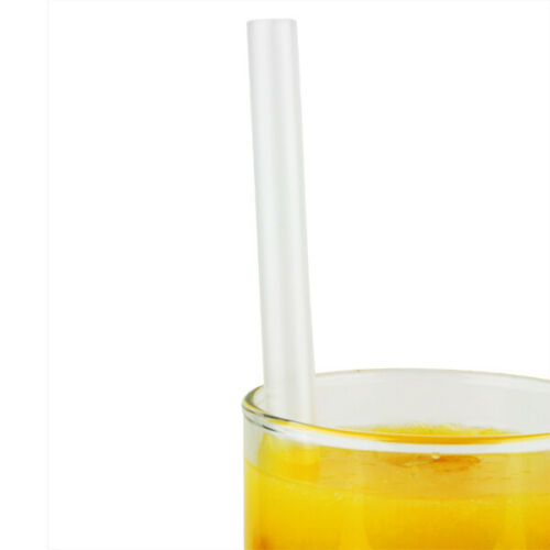 400x Jumbo Plastique Transparent pailles Milk-Shakes-Smoothie gadoue épais boissons