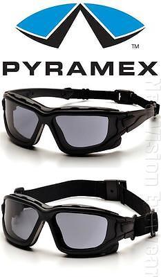 Pyramex I Force Smoke Gray Dual Anti Fog Lenses Safety Glasses Goggles Z87+