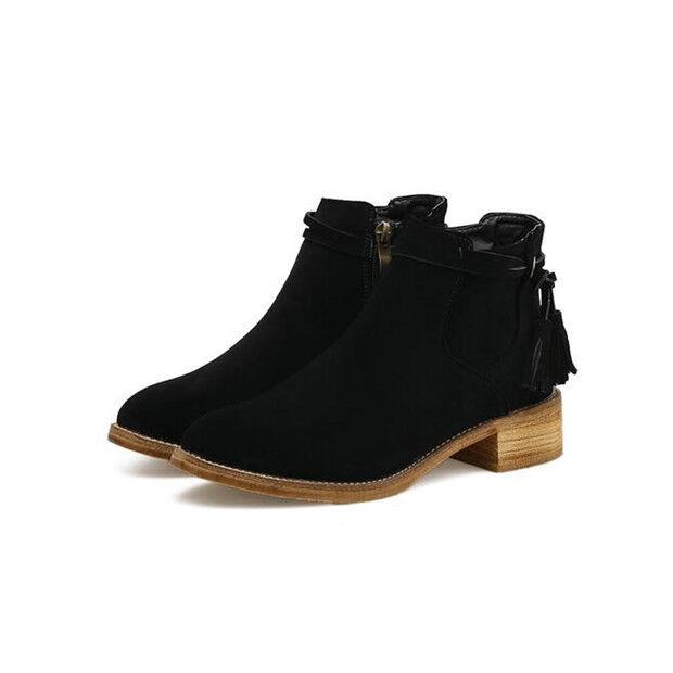 Bottes basses chaussures rangers 4 cm noir élégant comme cuir 9602